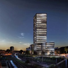 Grosspeter Tower, Basel.<br />Burckhardt+Partner AG<br />Dietziker Baumanagement AG